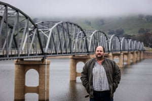 Sean Farrer in front of the Bethanga Bridge