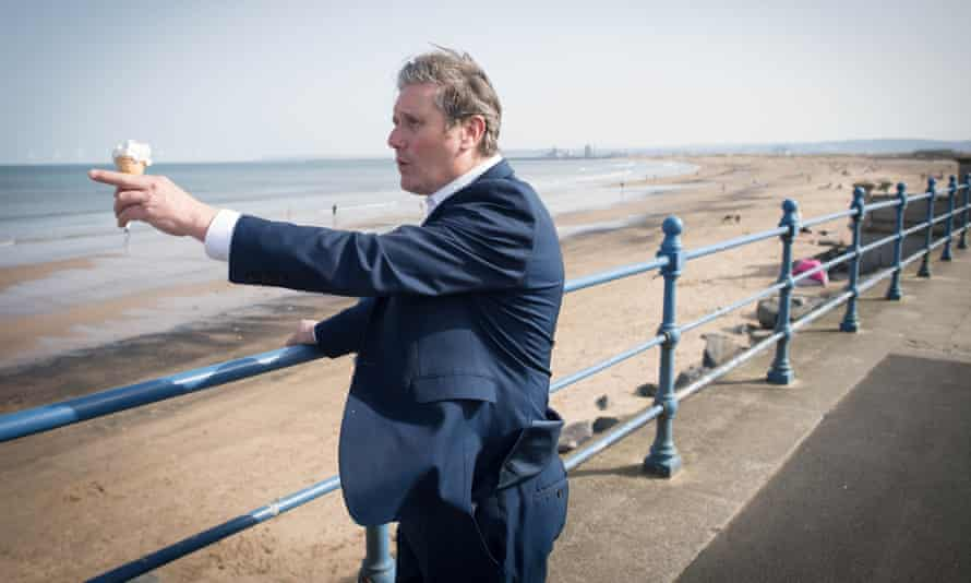 Keir Starmer in Seaton Carew, County Durham, 30 March 2021.