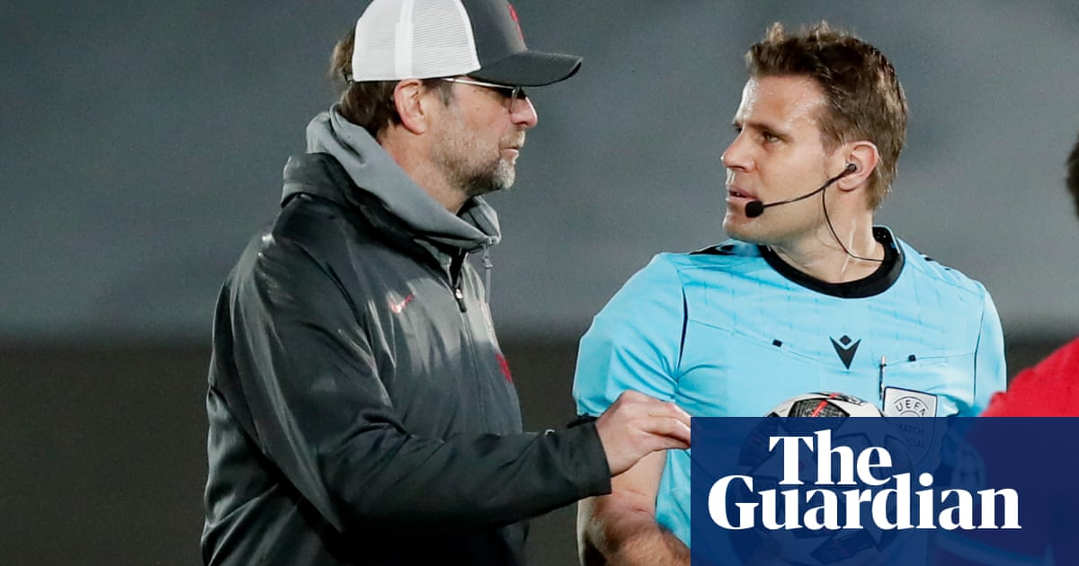Liverpool's Klopp says referee treated Mané unfairly in defeat by Real Madrid