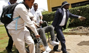 A student injured when he jumped from a lecture room during a security exercise at the Strathmore University.