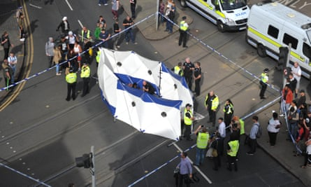 Police set up a cordon around the activists during the protest in August