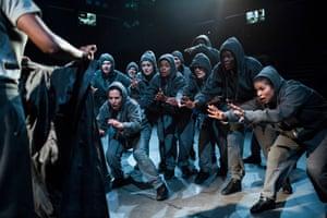 Invigorating … the cast of Julius Caesar.