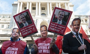 Bank of England staff protest low pay