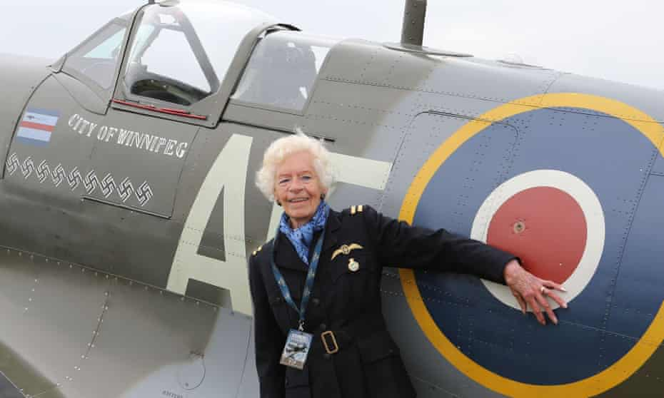 Mary Ellis at the 75th anniversary of the Battle of Britain's 'Hardest Day' at Biggin Hill, Kent, in 2015.