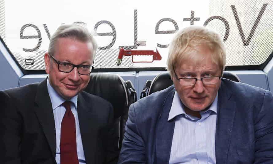 Michael Gove and Boris Johnson, the former foreign secretary