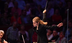 Conductor Karina Canellakis in full flow.