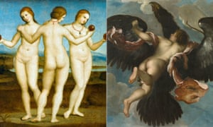 The naked truth … Raphael's The Three Graces and Mazza's The Rape of Ganymede.