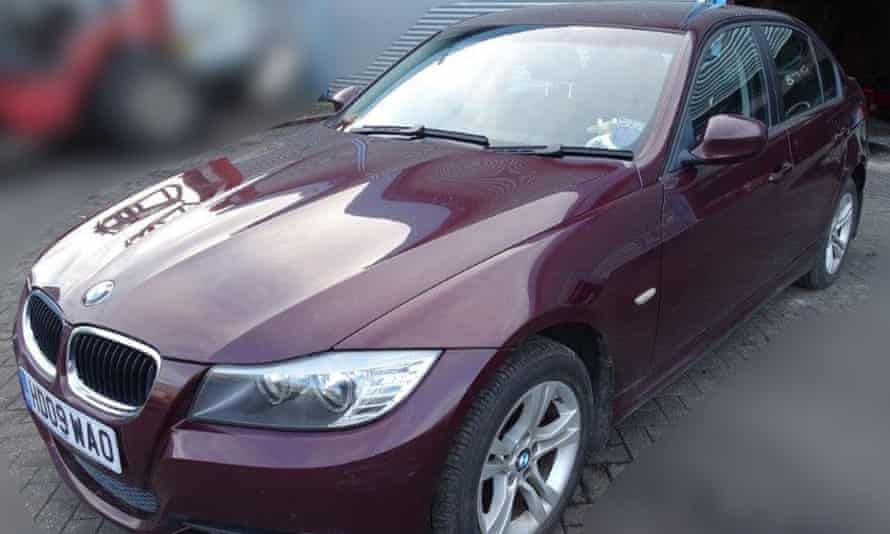 The BMW car owned by Sergei Skripal.