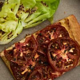Alexis Gauthier's vegan tarte moutarde-tomate