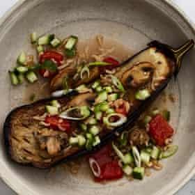 Alexis Gauthier's vegan aubergine à l'échalote