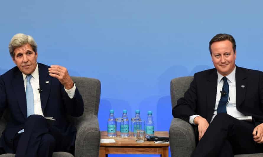 John Kerry and David Cameron at the anti-corruption summit in London
