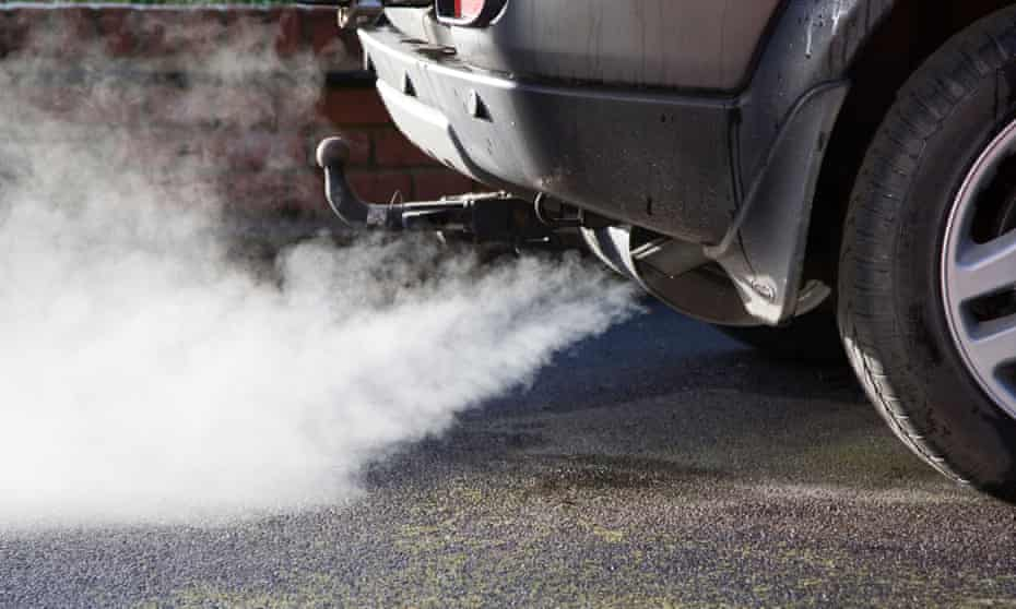 Exhaust cloud from a car. Air pollution kills 3.3m people prematurely every year.