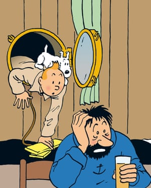 Tintin, Snowy and Captain Haddock.