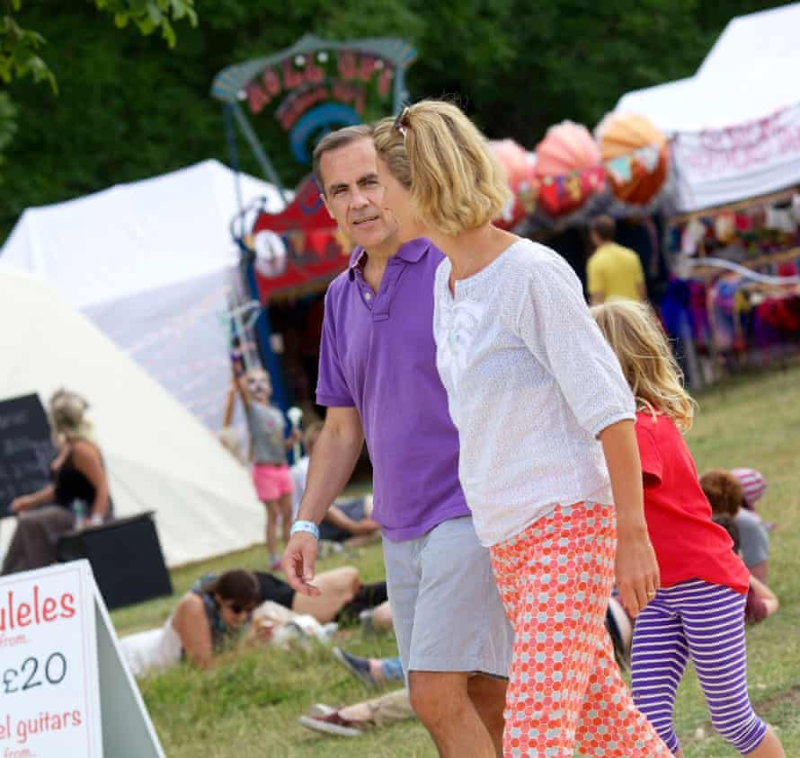 Carney and his wife Diana at the Wilderness festival in 2013.