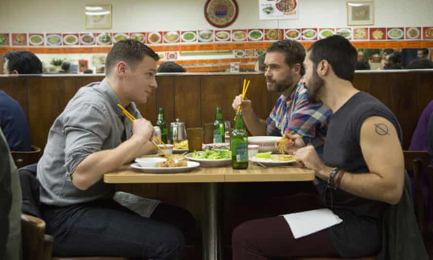 Jonathan Groff, Murray Bartlett and Frankie J Alvare in Looking: 'we all cared passionately about it'