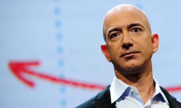 Jeff Bezos at a press conference in New York in 2011.