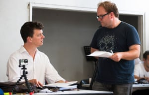 Tom Morris and Carl Grose during rehearsals.