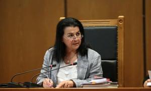 The president of the three-member criminal court, Maria Lepenioti