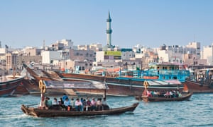 Water taxis ply their trade on Dubai Creek.
