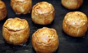 Pork pies from Ye Olde Pork Pie Shoppe, Melton Mowbray.