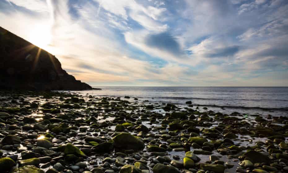 The boulder beach at Cwm Tydu, Ceredigion.