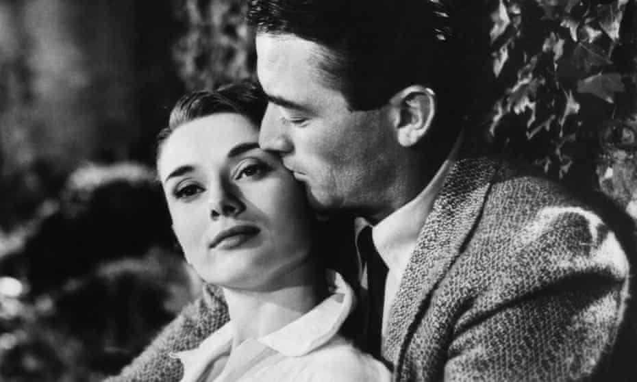 Audrey Hepburn with Gregory Peck in Roman Holiday.