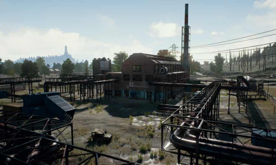 In PlayerUnknown's Battlegrounds, major settlements are carefully spaced out so players are incentivised to keep moving. Tall structures provide useful geographic markers and promise distant spoils
