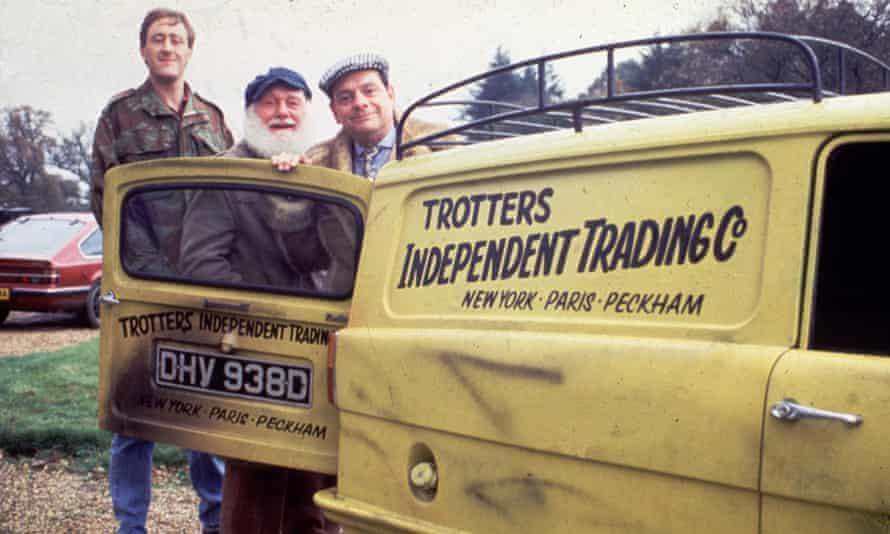 Lovely jubbly! … Nicholas Lyndhurst, Buster Merryfield and David Jason.