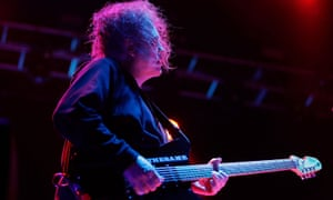 Robert Smith of The Cure on stage on Saturday at Byron Bay's Splendour in the Grass.