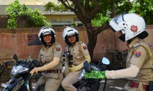 All-female police units are shaking up the male-dominated force in conservative India