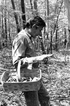 John Cage foraging at Stony Point, 1965