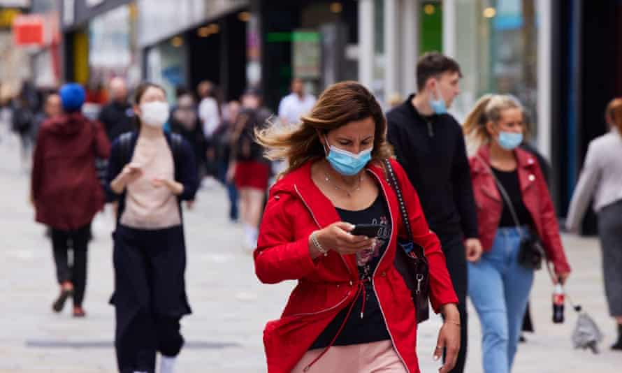 People wearing masks in Newcastle