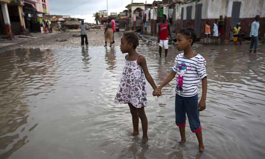 The aftermath of Hurricane Matthew in Les Cayes, Haiti, 2016.