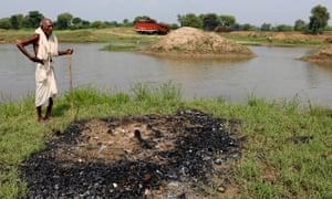The cremation ground of Jatpura village