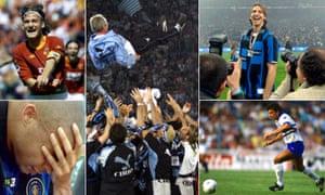 Francesco Totti celebrates, Sven-Göran Eriksson gets the bumps, Zlatan Ibrahimovic laughs, Gianluca Vialli scores and Ronaldo cries.
