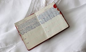An old diary on a bed