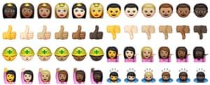 Apple racially diverse emoji