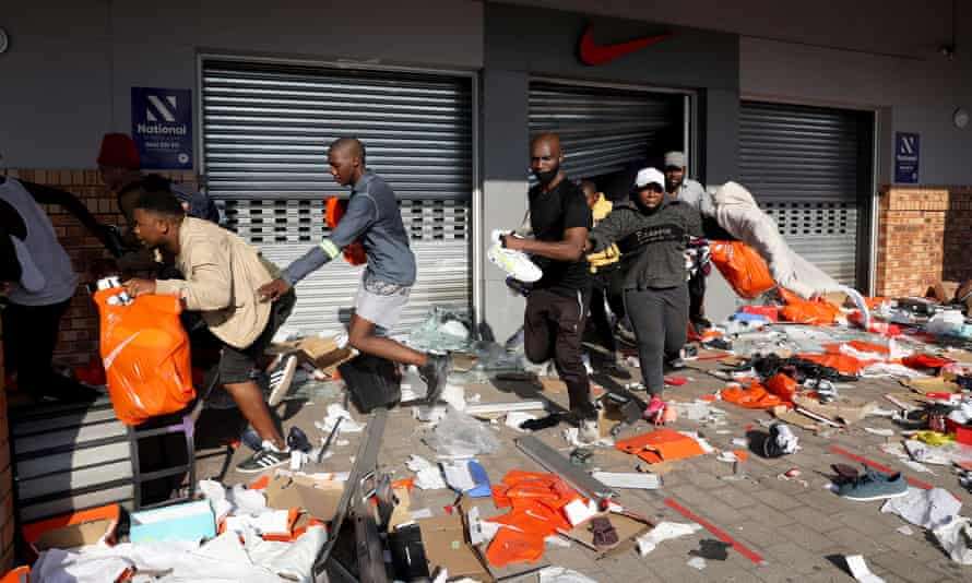 Looters empty a store