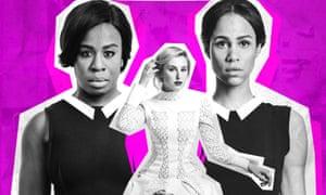Social codes broken … Uzo Aduba, Laura Carmichael and Zawe Ashton in the new revival of Genet's The Maids.