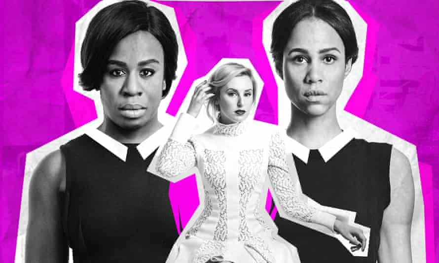 Social codes broken … Uzo Aduba, Laura Carmichael and Zawe Ashton in the new revival of Genet's The Maids.