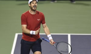 Andy Murray, pictured here playing against Fabio Fognini of Italy in the Shanghai Masters, has altered his approach after his hip resurfacing operation.
