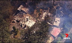 The bushfire that ripped through the heritage-listed Binna Burra Lodge in the Gold Coast hinterland.