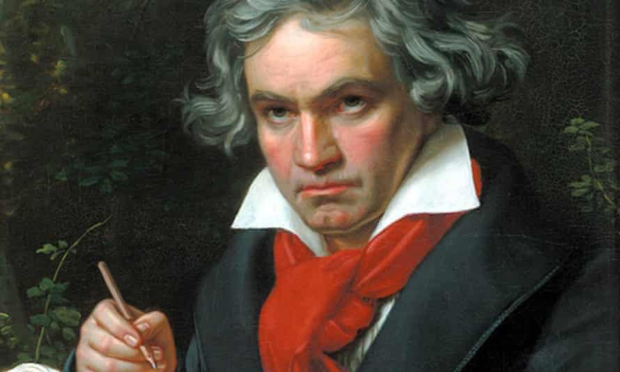 A portrait of Ludwig van Beethoven painted in 1818, 20 years after he first notice hearing problems.