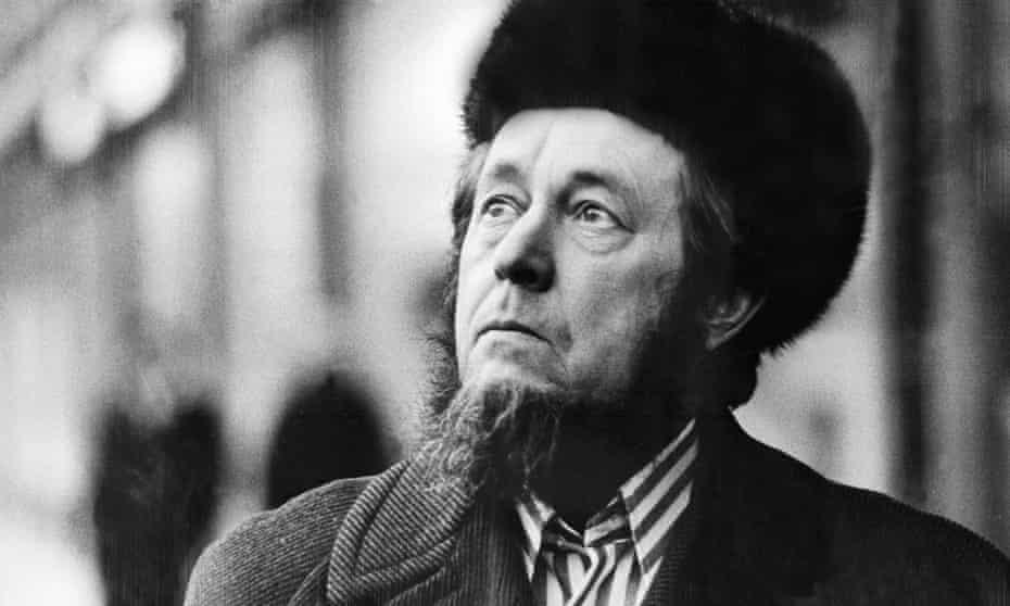 Russian author Alexander Solzhenitsyn, pictured in 1974.