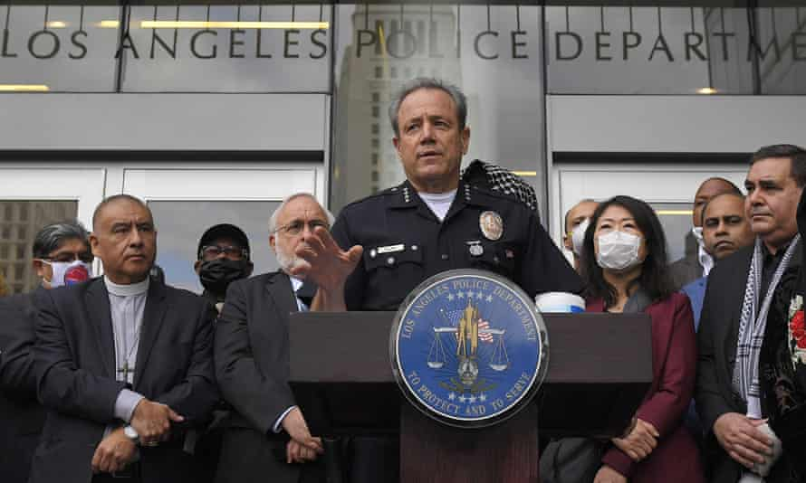 LAPD police chief Michel Moore in June 2020.