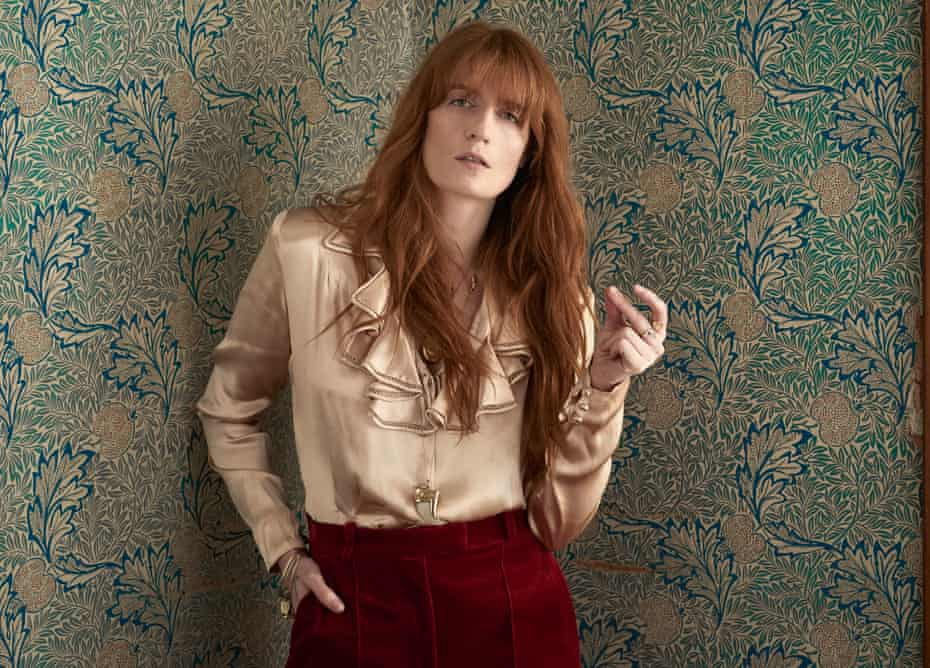 'The more peaceful I am, the more I can give to the work. I can now address things I wasn't capable of doing before': Florence wears shirt by Silk and Rope Vintage, trousers by Vilshenko and jewellery by Annina Vogel.