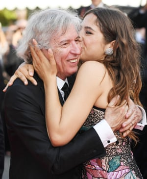 """""""Rodin"""" Red Carpet Arrivals - The 70th Annual Cannes Film FestivalCANNES, FRANCE - MAY 24: (L-R) Director Jacques Doillon and Izia Higelin depart after the """"Rodin"""" screening during the 70th annual Cannes Film Festival at Palais des Festivals on May 24, 2017 in Cannes, France"""