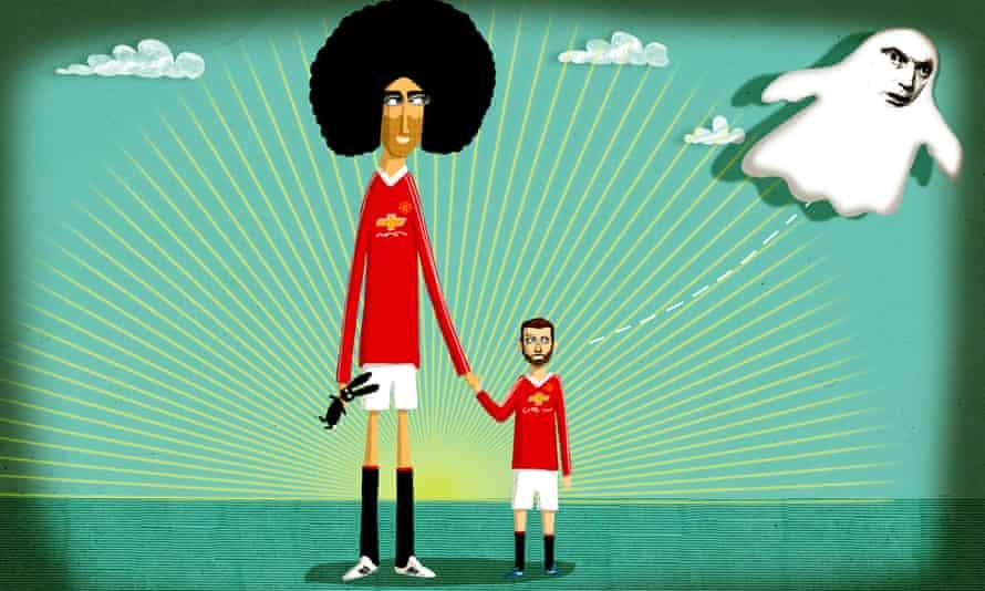 Marouane Fellaini and Juan Mata illustration