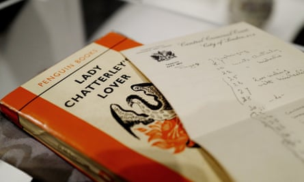The judge's annotated paperback copy from the Lady Chatterley's Lover obscenity trial.