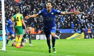 Celebrations of Leonardo Ulloa's goal against Norwich last month caused an earthquake with a magnitude of 0.3.